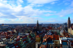 Model (kali_fonia) Tags: city tower church landscape cityscape view towers shift tilt viewpoint wrocaw tiltshift