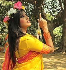 Bengali spring festival dress up (borsha_dhara12) Tags: up festival spring dress bengali