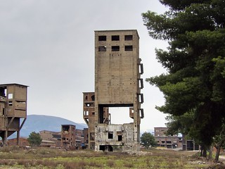 Vue transversale d'un bâtiment vide