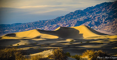 Sand Box (MarcCooper_1950) Tags: california sky mountains yellow clouds landscape outdoors beige nikon warm desert dunes deathvalley hdr sanddunes goldenhour autofocus 5000views 4000views 200faves d810 300faves 250faves 350faves 300comments sigma150500mm mezquitesanddunes