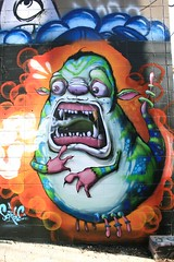 IMG_7965 (Angela Fetters) Tags: city urban art monster wall painting graffiti character ghost cartoon surreal slime scribe