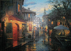 After the Rain (pefkosmad) Tags: street art rain painting artist hobby puzzle gibsons leisure jigsaw russian aftertherain pastime magicevening evgenylushpin eugenelushpin