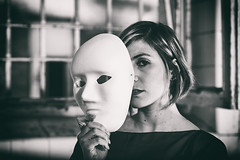 What I've Know For A Very Long Time (Mathias Brea) Tags: mujer retrato mascara virado