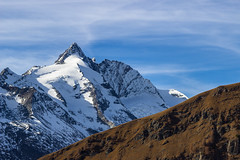 Groglockner (michael.taferner) Tags: blue autumn sky brown mountain snow alps ice clouds canon eos austria tirol view hiking sunny carinthia glacier traveling impressive pasterze 600d 24105l