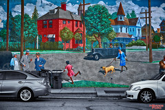Mural (MBates Foto) Tags: outdoors washington mural spokane unitedstates hdr stockimage brownsaddition
