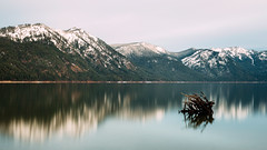 Hypothesis of Time (John Westrock) Tags: longexposure lake snow mountains reflection nature water landscape washington pacificnorthwest canonef2470mmf28lusm cleelumlake canoneos5dmarkiii johnwestrock