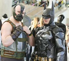 Wondercon 2016: Bane and Batman (westcowing10) Tags: cosplay dccomics wondercon thedarkknight batmancosplay cosplayphotography thedarkknightrises comiccosplay banecosplay baneandbatman thedarkknightcosplay wondercon2016