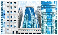 Tryptichon: Into The Blue (macplatti) Tags: blue art glass architecture skyscraper concrete grey israel telaviv big kunst himmel grau architektur classical glas beton conception enormous wolkenkratzer isr konzeption klassisch tryptichon fujixf1855mm fujixt10