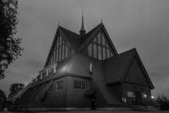 Kiruna Church (Jan-Roger Olsen) Tags: longexposure building church night dark se sweden tripod sverige kiruna oldchurch natt woodenchurch kirke norrbottensln byggning kirunakirke