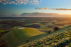 Aurora (S l a w e k) Tags: uk morning england english sunrise landscape dawn sussex countryside nationalpark spring sunny hills pastoral rolling southdowns lewes bucolic