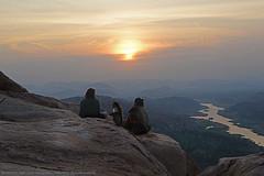 THREE'S A CROWD ?! (GOPAN G. NAIR [ GOPS Photography ]) Tags: tourism sunrise river photography monkey karnataka hampi gops tungabhadra gopan anegundi anjanadri gopsorg gopangnair gopsphotography