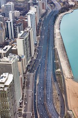 Use any lane (ionu_t_z) Tags: panorama lake chicago tower canon landscape photography downtown michigan aerial lakeshoredrive lsd telephoto hancock aerialphotography hdr 5dmarkii
