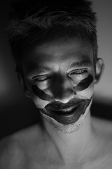 CAN_4150.jpg (camiladellnogues) Tags: light portrait people blackandwhite colors monochrome face vancouver contrast mouth studio model eyes nikon paint bc artistic handmade fear surreal columbia british d7200 nikond7200