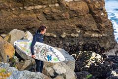 ArchitectGJA-0801.jpg (ArchitectGJA) Tags: ocean california people santacruz beach sport coast streetphotography montereybay surfing cliffs steamerlane oneill cliffdiving wetsuit lighthousepoint lighthousefield marineanimals surfingsteamerlane gnarlyboard