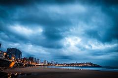 Como el Olvido (As the Oblivion) (Dibus y Deabus) Tags: sky espaa beach clouds canon dawn spain gijn asturias playa amanecer cielo nubes gijon 6d playadesanlorenzo