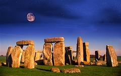 Satanic Giants Built Stonehenge (paulogd2002) Tags: uk winter sunset summer england moon stars solstice moonrise stonehenge druid rise wiltshire