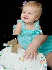 Kennedy's Cake Smash (sarahkathleendavis) Tags: birthday baby girl smile cake collage one march smash candle child frosting 2016