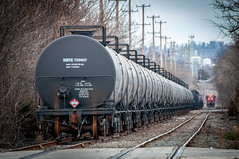 A String of Tank Cars 12-28-15 (Daniel J. Kirby) Tags: red pacific pennsylvania rail canadian pa cp northeastern landsdale danieljkirbyphotography
