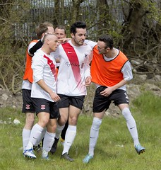 Bankies subs get in on the action (Stevie Doogan) Tags: park west scotland thistle scottish first juniors division league holm largs clydebank superleague bankies mcbookiecom