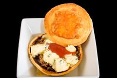Garlo's beef and mushroom meat pie (garydlum) Tags: cheese mushrooms canberra bluecheese tomatosauce meatpie worcestershiresauce