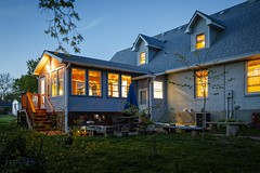 Backyard Light II (Notley) Tags: house home architecture evening spring realestate outdoor dusk missouri april serene bluehour nocturne warmlight columbiamissouri 2016 10thavenue notley boonecountymissouri realestatephotography notleyhawkins missouriphotography httpwwwnotleyhawkinscom notleyhawkinsphotography columbiamissourihome