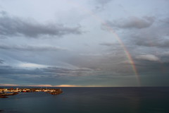 Arc de Sant Mart (Albert T M) Tags: arcoiris catalonia nubes catalunya blanes nvols catalogne arcdesantmart arcdelcel pontdesantmart ratlladesantmart arcdesantjoan
