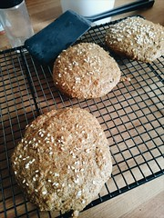Bread-Not-Bread (minim) Tags: bread buns linseed flaxseed hemsleyhemsley goodandsimple