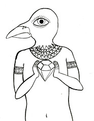 Diamond part 1 (katrinebrungaard) Tags: ink god drawing egypt horus