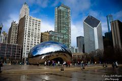 Cloud Gate (ogblaxz) Tags: chicago architecture illinois nikon cityscape millenniumpark cloudgate thebean d600 nikond600 nikonphotography