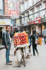 (Terrini) Tags: travel nepal bicycle asia streetlife kathmandu fruitstand