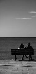 DSC_3469-1-2 (pupetto2011) Tags: sea people bw white black hug couple persone paesaggi bianco nero abbraccio panchine panorami ner
