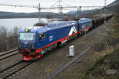 LKAB IORE 121 Koparrsen Sweden Oct. 14, 2015 (Yukon Yeti) Tags: electric railway locomotive lkab railraod iore