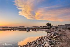 The Sky, Water and Stones (Ali's Photograpy) Tags: pakistan sunset sky sun water clouds river landscape photography golden nikon dusk stones horizon ali hour punjab nikkor 2470mm mangla alisphotography