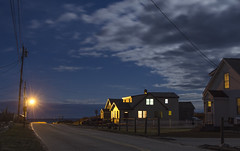 (amy20079) Tags: ocean road sea night clouds lights evening seaside maine newengland neighborhood manmade moonlight thebluehour nikond5100