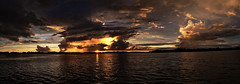 Fantastic Skies Over Pickerel Lake (4 Shot Pano) (J Swanstrom (Check out my albums)) Tags: sunset panorama lake water clouds southdakota landscape evening waves kodak ripples dx7590 cloudscape pickerel jswanstromphotography