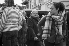 Crowds (Alexander Jones - Documentary Photography) Tags: street white black west monochrome swansea wales photography nikon market candid south documentary uplands d3000
