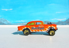 Hot Wheels HW WORKSHOP '55 Chevy Bel Air Gasser 2013 : Diorama Bonneville Salt Flats - 6 Of 13 (Kelvin64) Tags: hot air wheels salt flats chevy workshop 55 bel bonneville diorama gasser hw 2013