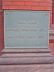 Farm Loans, Zanesville, OH (Robby Virus) Tags: street ohio architecture plaque farm north 45 national credit production zanesville fourth loan association