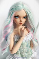 Pastel mix (Kimirra) Tags: bjd soom puss commission fairyland abjd colorfulwig colorfulhair minifee bjdwig alpacawig minifeechloe angorawig bjdalpacawig