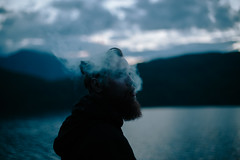 through the smoke (Micko1986) Tags: portrait mountain lake canon tara smoke serbia drina vsco