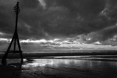Crosby Beach mono (tabulator_1) Tags: blackwhite cloudy sunsets crosby crosbybeach