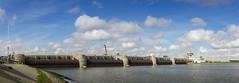 [Explore 2016-04-26] Eidersperrwerk - Panorama (stefanfricke) Tags: panorama fav50 sony fav20 eider eidersperrwerk fav100 tnning a6000 ilce6000