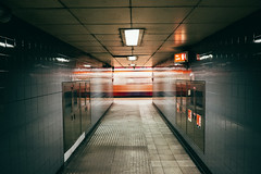 Passing. (Paul_Munford) Tags: motion london train underground fuji tube explore 1855mm vsco fujixe2 forgotwhattubestationthisis