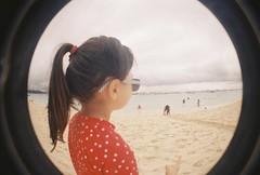 (golfpunkgirl) Tags: christmas travel family sun holiday beach water ava swim island lomo lomography sand cousins sunny fisheye boracay whitesand philiipines negfilm lomography400 dec2015