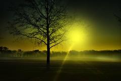 sunray (Tim @ Photovisions) Tags: sunset sun fog sunrise nebraska beatrice sunray gageco