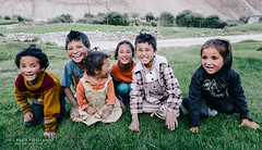 Welcoming Party (Chris Rubey) Tags: travel portrait people india kids rural children countryside smiles culture pastoral ladakh domkhar ladaki