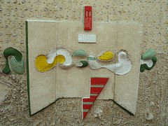 Cambridge, MA, Harvard University Science Center, Hall Art (untitled), 1953 (Sculptor: Costantino Nivola) (Mary Warren (6.7+ Million Views)) Tags: sculpture art hall sand plaster harvarduniversity cambridgema costantinonivola harvarduniversitysciencecenter