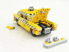 Checker Cab details (Mad physicist) Tags: car lego cab details checker 122