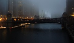 As a Boy, I Would Walk Through the Valley (Chicago Man) Tags: city morning urban usa chicago fog dark illinois foggy chitown scene chi chitownphotoscom johnwiwanski