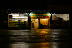 alone in the dark (lumofisk) Tags: rain night 50mm alone nacht regen allein getränkemarkt 0mmf0 nikondf
